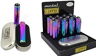 Solid Metal Flint Ignition Clipper Lighter