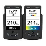 Cartuchos De Tinta para Canon PG-210XL CL-211XL Reemplazo, Compatible para Canon PIXMA IP2700 IP2702 MP240 MP250 MP270 MP280 MP480 MP490 MP495 Set
