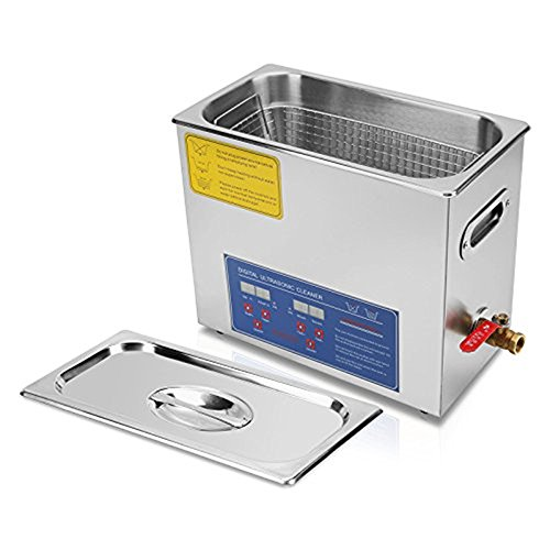 CGOLDENWALL Limpiador ultrasónico calentador temporizador máquina de limpieza ultrasónica profesional de acero...