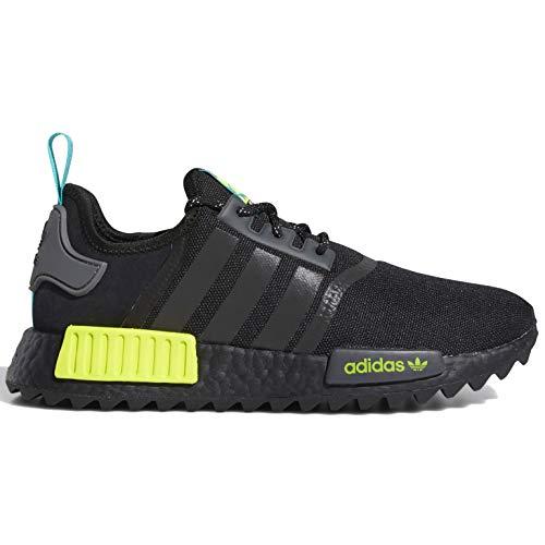 adidas Originals NMD_r1 Trail Sneaker para hombre, Negro (Negro/Azul Real/Amarillo Semi Solar), 41 EU