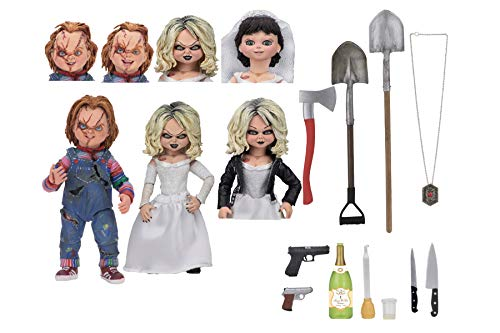 NECA - Bride of Chucky - 7' Scale Action Figure - Ultimate Chucky & Tiffany 2-Pack