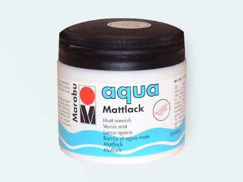 Marabu 11360075000 - Farbloser aqua Mattlack, transparent - matter Acryl - Lack auf Wasserbasis, für Hobby und Freizeit, zum Lackieren vieler Bastelarbeiten und Materialien, 500 ml Dose