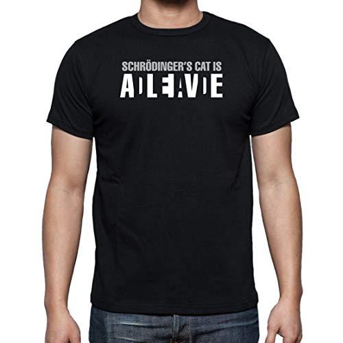 The Fan Tee Camiseta de Hombre Ciencia Gato Schrodinger Ciencia Divertidas