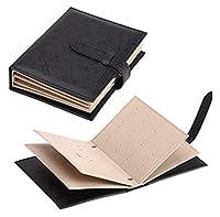 ジュエリーケース ピアスイヤリング 収納ケース 手帳式 ブック型 かわいい ポーチ型 おしゃれな 本デザイン 大容量 トラベル 携帯 持ち運びも便利 選べる4色 (黒)