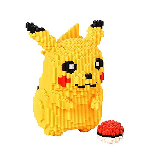 LNLJ Diamant Micro Block Set - Pikachu Spielzeug, 3D-Puzzle DIY Pädagogisches Spielzeug, Geeignet Für Kinder - Sammler Und Pokémon Enthusiasts