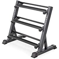 Marcy 3 Tier Metal Steel Home Workout Gym Dumbbell Weight Rack
