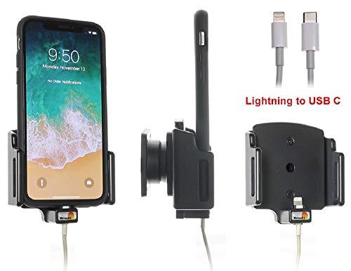 Brodit Gerätehalter 716013 Hergestellt in Sweden für Smartphones - Apple iPhone 11, iPhone X, iPhone XR, iPhone XS, Anschluss Lightning zu USB-C