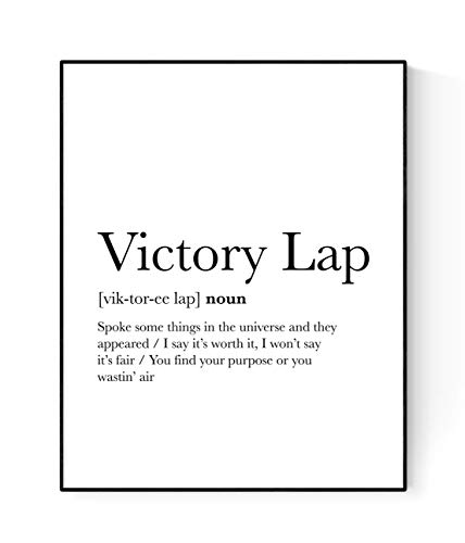 Victory Lap Lyrics Poster   Nipsey Hussle Hip Hop   Rap Music Art Print (16x20)