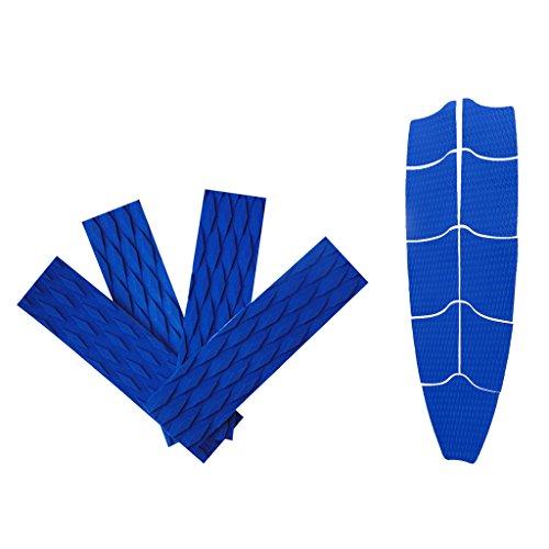 Almencla Bloco de Tração de Prancha de Surfe Azul de 9 Peças com Suporte de Cauda de 4 Peças