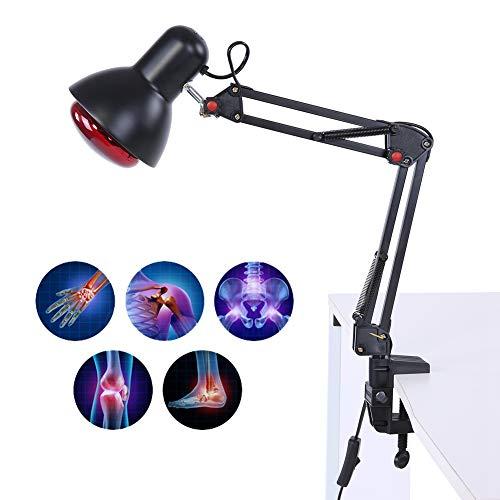 Zyyini Rotlicht wärmepflegelampe, Einstellbare Rotlicht wärmelampe Zur Linderung Von Rückenschmerzen(EU-Stecker)