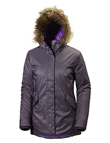 Helly-Hansen Women's Hilton 2 Parka Insulated Jacket, Dark Violet, Small