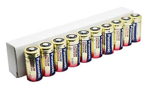 Panasonic PACR123A_10 - Batería de litio (3 V, pack de 10)