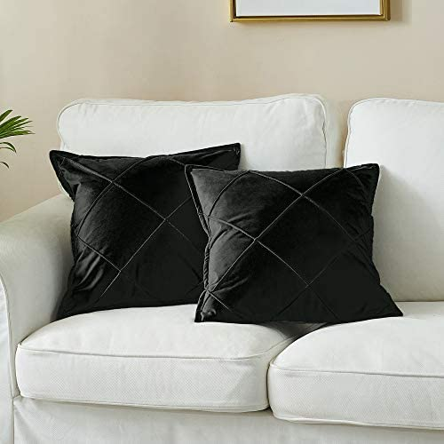 LAFAVILLE Modern Throw Pillow Covers 2 Pack 20x20 Large Checkered Black Pillow Cover Set Decorative product image