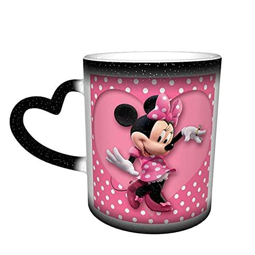 Taza de café de Mickey Minnie Mouse con diseño de dibujos animados de cerámica Tazas de té cambiantes de color, novedad familiar amantes, amigos, oficina, regalo