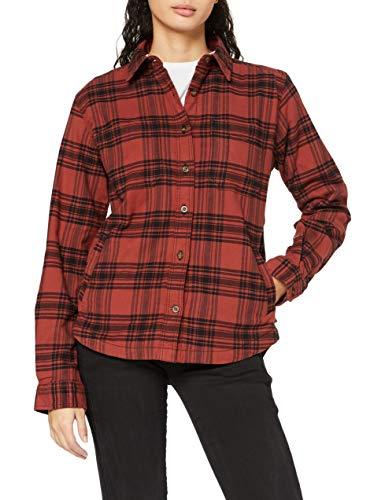 Carhartt Womens Hamilton Plaid Flannel Jac Shirt Jacket, Redwood, XS