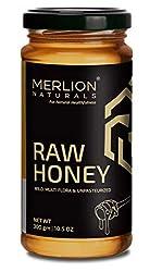 Merlion Naturals Organic Raw Honey, Wild Forest / Multiflora Honey (300 gm)