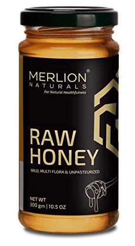Merlion Naturals Raw Honey, Wild / Forest, Multiflora, and Unpasteurized (300gm)
