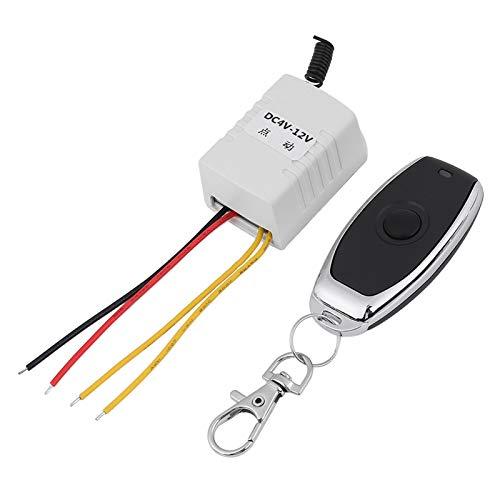 Interruptor de relé, DC 4V 5V 6V 7.4V 9V 12V Control remoto de relé inalámbrico Un receptor de interruptor de llave + Salida remota del transmisor