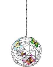 xiaowang Butterfly Solar Lights, met kleurrijke vlinders, Solar Crackle Globe opknoping bal lichten, voor outdoor camping verlichting decoratie