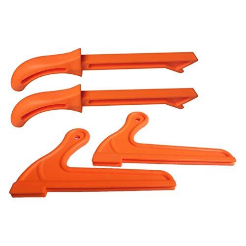 Sierra de madera Putros de 4 piezas Protección a mano Putros de madera Putros de madera Sólido Cuerpo Sólido Conjunto para la mesa de carpintería Tabla-1 Conjunto de madera Push Manija de empu
