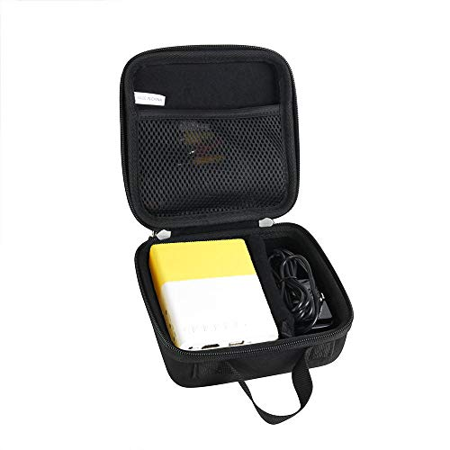 Hermitshell Hard Travel Case for Meer YG300 /Artlii 2020 New Pocket Projector/ Fosa Mini Portable LED Projector (Size 2)
