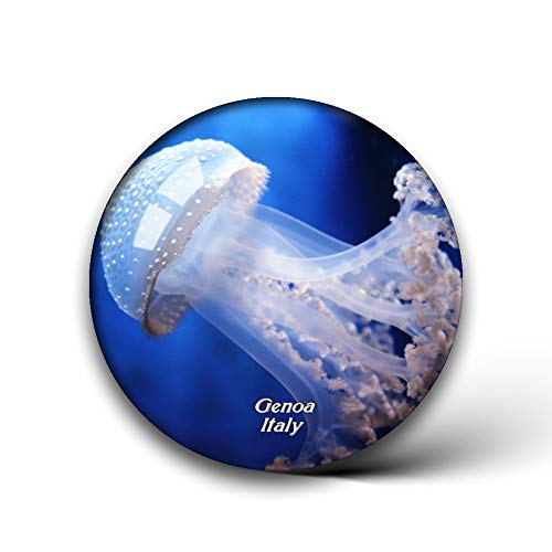 Jollin Italien Aquarium von Genua Kühlschrankmagnete Kristallglas für Kühlschrank Aufkleber City Travel Souvenirs Whiteboard Home Deco Geschenke