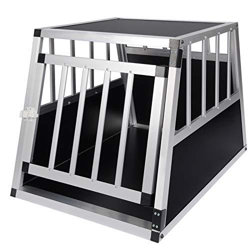 Elightry Trasportino per Cuccioli Gabbia Box in Alluminio per Cani con Serratura di Sicurezza Nero YDLGL0004sz