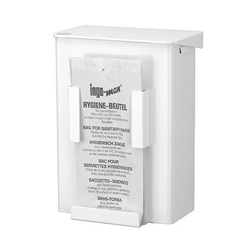 OPHARDT hygiene 232600 Ingo-man AB 6 HB 1 P Geschlossene Hygiene-Abfallbox Mit Klappdeckel und Hygienebeutelspender für Papiertüten, 6 Liter