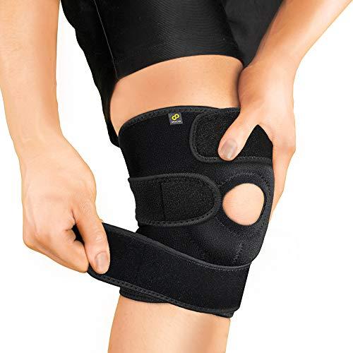 Bracoo KS10 wsparcie kolanowe, stabilizator otwartej rzepki i w pełni regulowany pasek neoprenowy – ulga w bólu stawów, rehabilitacja kontuzji sportowych i ochrona przed ponownym urazem