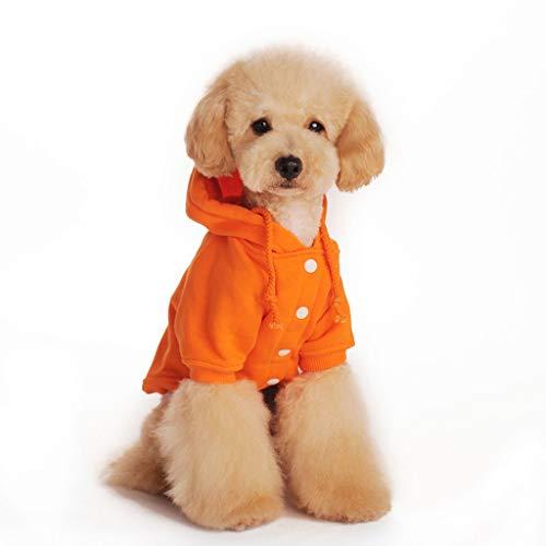 Hohe Elastische Manschette Haustierkleidung Gestrickter Warmer Baumwollwelpen-Hoodie Lose Und Bequeme Wintersportjacke Für Haustiere (Color : Orange, Size : XXL)