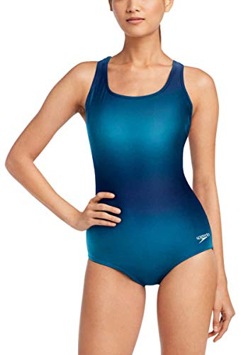 Speedo Womens Ultraback One Piece Swimsuit (Mykonos Blue, Small)