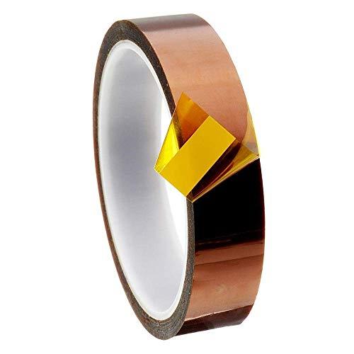 WPLHH Zubehör Computer-Zubehör, hitzebeständiges Klebeband 5 mm/10 mm/15 mm/20 mm/25 mm/30 mm, Hochtemperatur-Polyimid-Folie für 3D-Drucker (Größe : 3) 3D-Drucker Zubehör