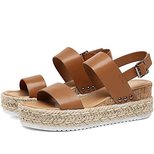 katliu Sandalia de Plataforma Mujer, Zapatos Cuña 21010-07