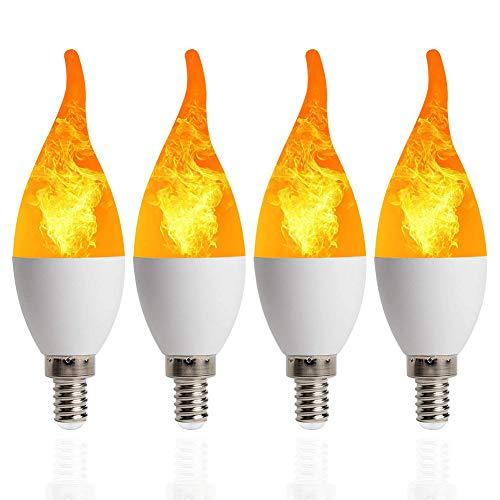 FCX-LIGHT LED Flamme Birne Flammeneffekt GlüHbirne Flackernde 3 Modi GlüHlampe Wahre Feuer Farbe Dekorative Lampe Festival Party FüR Weihnachten,B,E14