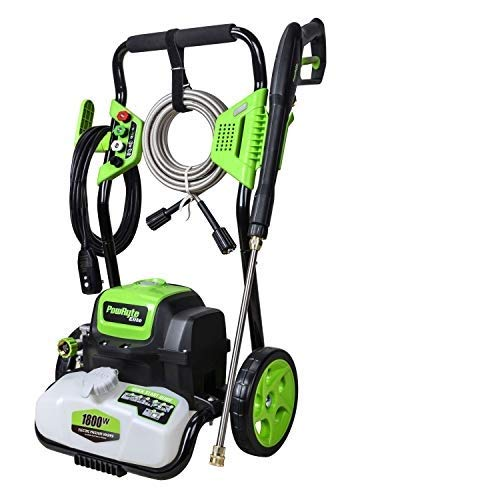 PowRyte Elite Pressure Washer with Built-in Tank,Portable Washer with 4 Interchangeable Nozzles and Total Stop System,Electric Power Washer - 4200PSI 3.2GPM(Green)