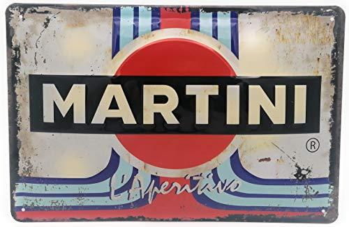 Martini Aperitivo, Racing Retro Blechschild, Barschild, hochwertig geprägtes Werbeschild, Türschild, Wandschild, Dekoration, 30 x 20 cm