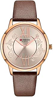CURREN Watch Brouwn Leather and Copper frame Model C9049L