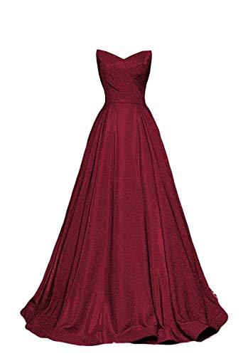 Vivian's bridal Women's 2019 Glitter Sweetheart Ball Gown Long Strapless Elegant Formal Dresses WLTE52