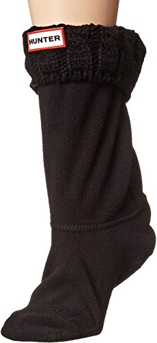 6 Stitch Cable Boot Sock Short , Schwarz, M