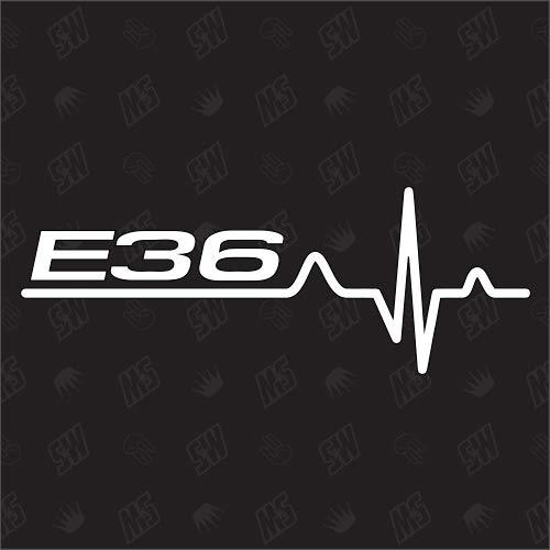 speedwerk-motorwear E36 Herzschlag - Sticker für BMW Tuning Fan Aufkleber