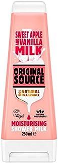 オリジナルのソースリンゴ&バニラミルクシャワー250ミリリットル x4 - Original Source Apple & Vanilla Milk Shower 250ml (Pack of 4) [並行輸入品]