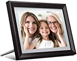 Dragon Touch Digital Photo Frame WiFi 10 inch IPS Touch Screen HD Display, 16GB Storage, Auto-Rotate, Share Photos via App, Email, Cloud - Classic 10