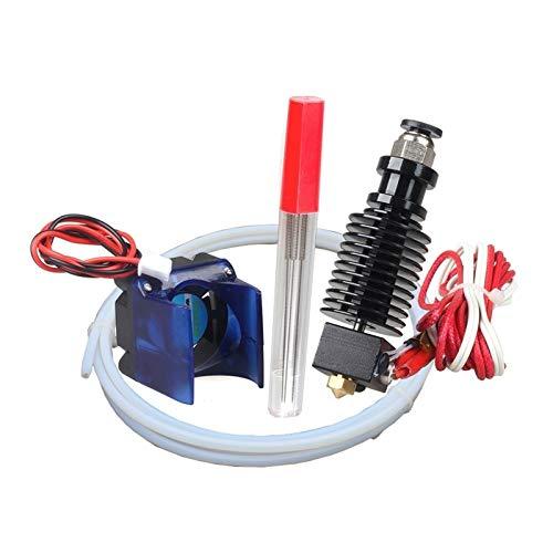 HUANRUOBAIHUO Parti della Stampante 3D hotend Adatto for E3D v6 Kit 0.4/1.75mm 12V 24V con Raffreddamento Tubo di Ventilatore PTFE J-Testa di estrusione a Distanza 3D Accessori Estrusori stampanti