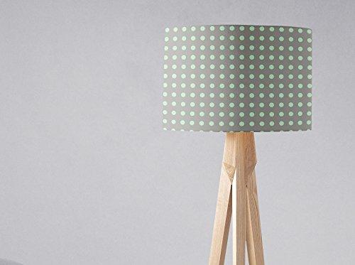 Graue und mintgrüne Tupfen Lampenschirm für Tischlampe oder Deckenleuchte