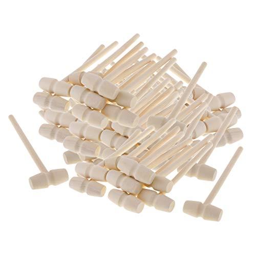 perfeclan 80 Stück Holzhammer Schreinerknüppel Schreinerhammer Holzklüpfel Werkzeug für Modellbau