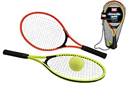 Get Active: Give tennis a go! Perfect for getting up and about as well as refining hand-eye coordination! For Beginners: this set is the perfect introduction to the sport with beginner's rackets size 26cm x 59 cm Play anywhere: with a couple of racke...