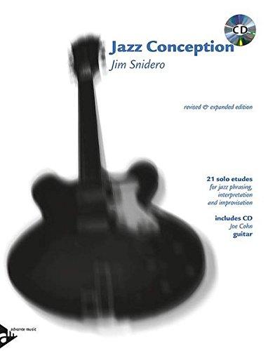 Jazz Conception Guitar: 21 solo etudes for jazz phrasing, interpretation and improvisation. Gitarre. Ausgabe mit mp3-CD.
