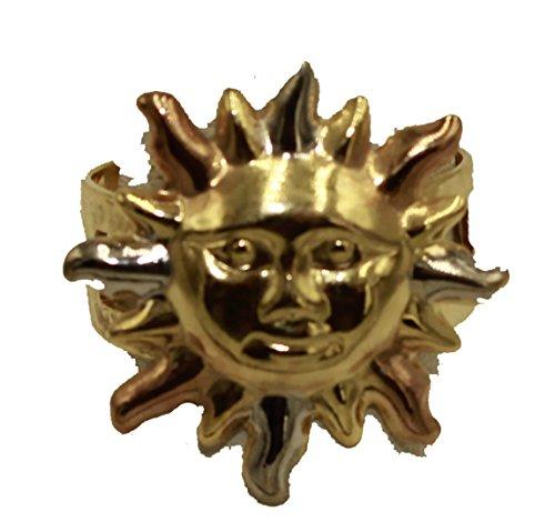 Diamantados of Fla Anillo Ajustable de 18 K Chapado en Oro de Tres Tonos, tamaño 6 a 10, Anillo Ajustable Chapado en Oro de 18 Quilates