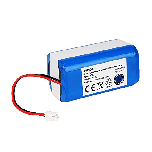 Replacement Battery Pack for Shark Ion Robot RVBAT850 Battery for RV700_N, RV720_N, RV725_N, RV761, RV850, RV850BRN, RV850C, RV850WV, RV851WV, RV871, RV871C 2 Prong 14.4V 2600mAh Dining Features Kitchen Robotic Vacuums