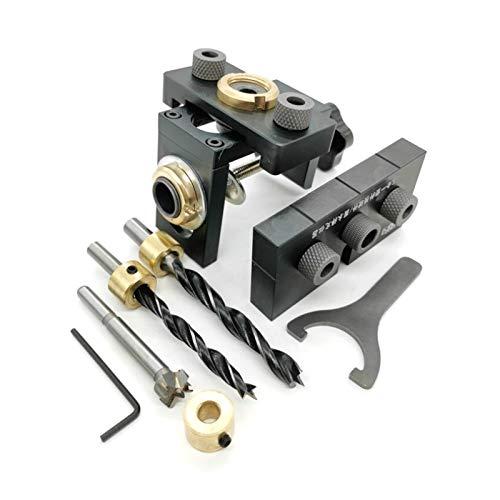 robots master Guía for Trabajar la Madera Perforadora Locator Localizador de perforación Kit Clavijas de Madera de ebanistería de Bolsillo Broca for la Herramienta de carpintería